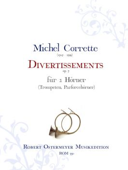 Corrette, Michel - Divertissements op.7 for 2 Horns (hunting horn, trumpet)