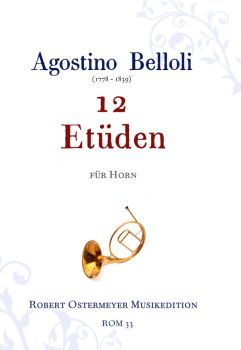 Belloli, Agostino - 12 Etudes for Horn