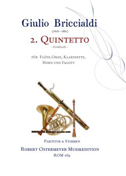 Briccialdi, Giulio - 2. Quintet op.132 for flute, oboe, clarinet, horn and bassoon
