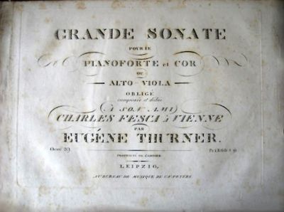 Thurner, Friedrich Eugen - Grande Sonate for Horn and Piano op.29